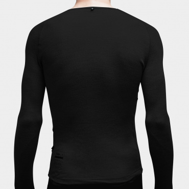 100% Merino LS Baselayer Black